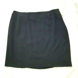 Talbots black plus size skirt